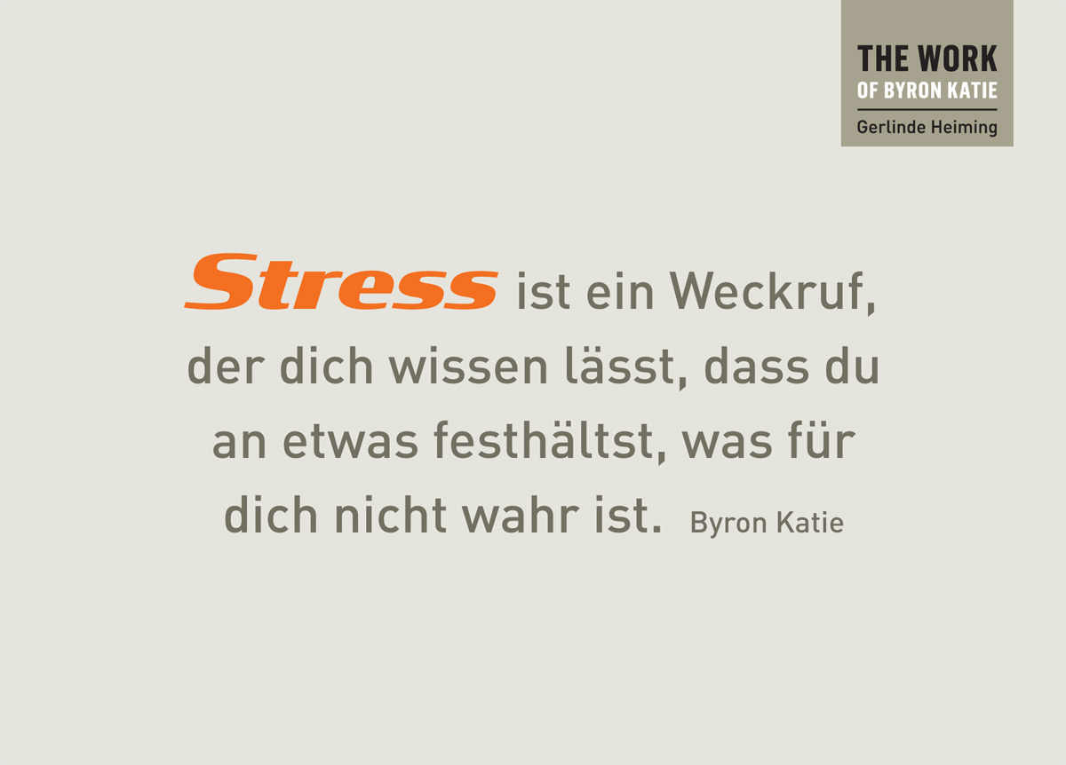 Stress ist ein weckruf